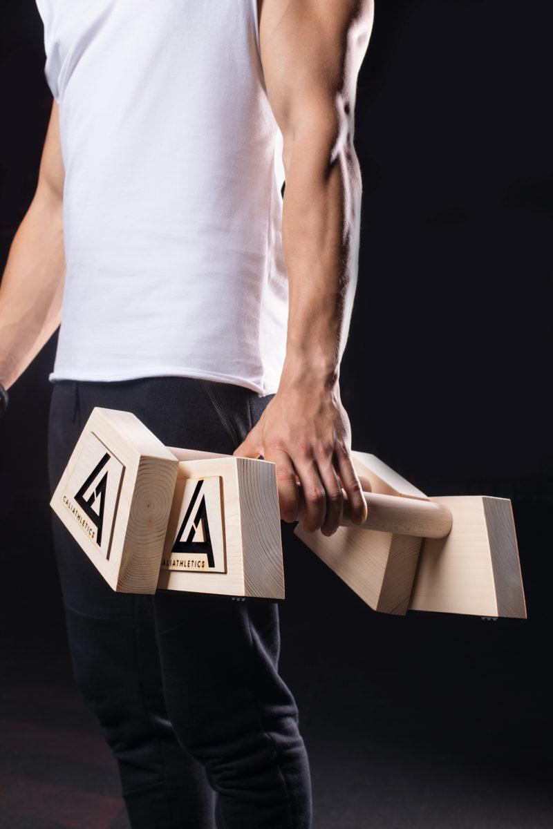 paraletki drewniane 35 cm caliathletics